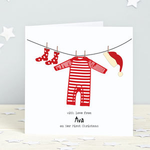On My First Christmas: Personalised Card Pack