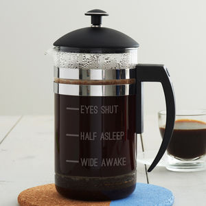 'Half Asleep' Measures Cafetiere - what's new