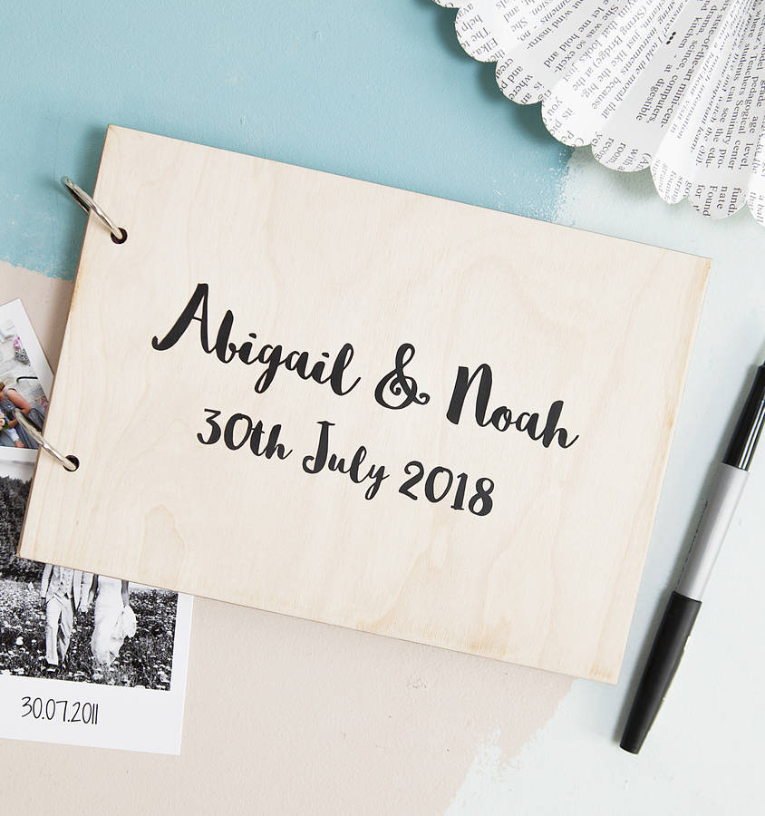 Personalised Modern Calligraphy Wedding Book By Clouds And