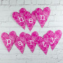 Hen Party Heart Decoration