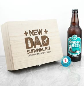 Personalised New Dad Survival Kit - keepsake boxes