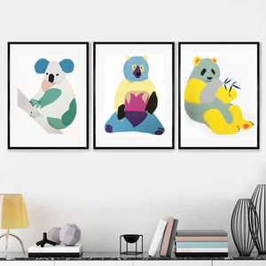 Framed Bear Prints - posters & prints