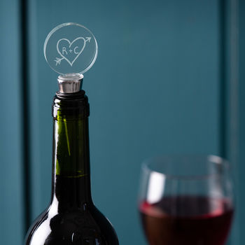 Personalised Wine Bottle Stopper For Couples