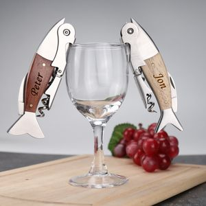 Personalised Novelty Fish Bottle Opener And Corkscrew - corkscrews & bottle openers