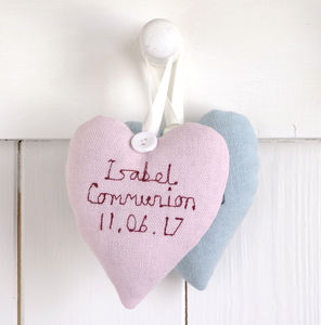 Personalised First Holy Communion Heart - bedroom