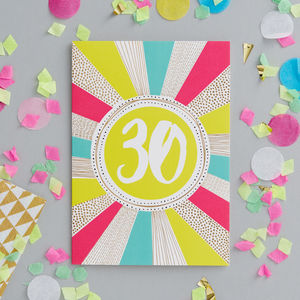 30th Birthday Foiled Greeting Card - birthday cards