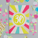 30th Birthday Foiled Greeting Card