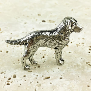 Labrador Dog Tie Pin Antiqued Pewter
