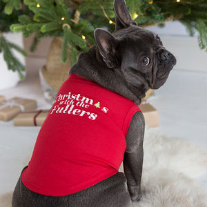 Christmas Alphabet Personalised Pet Vest