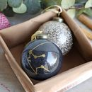 Personalised Constellation Glitter Bauble