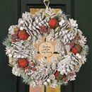 Personalised Luxury Highland Pine Cone Christmas Wreath