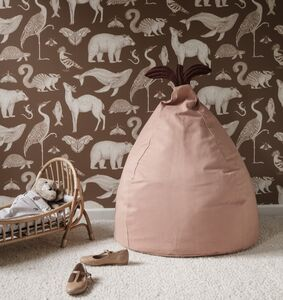 Children's Dusky Pink Fruit Beanbag