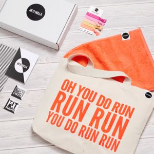 Run The Gym Tote Fit Kit, Gift Box - slogan shoppers