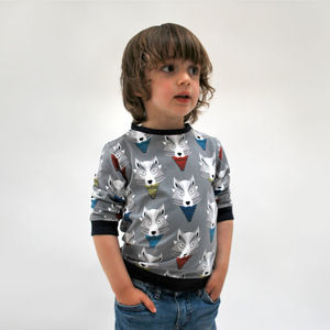 Kids' Jersey Sweater Top: Wolves - jumpers & cardigans
