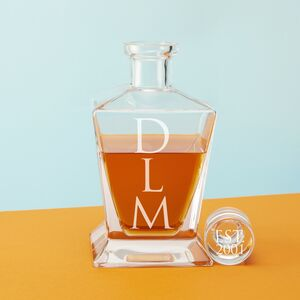Monogram Crown Decanter