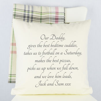 Personalised Daddy Cushion