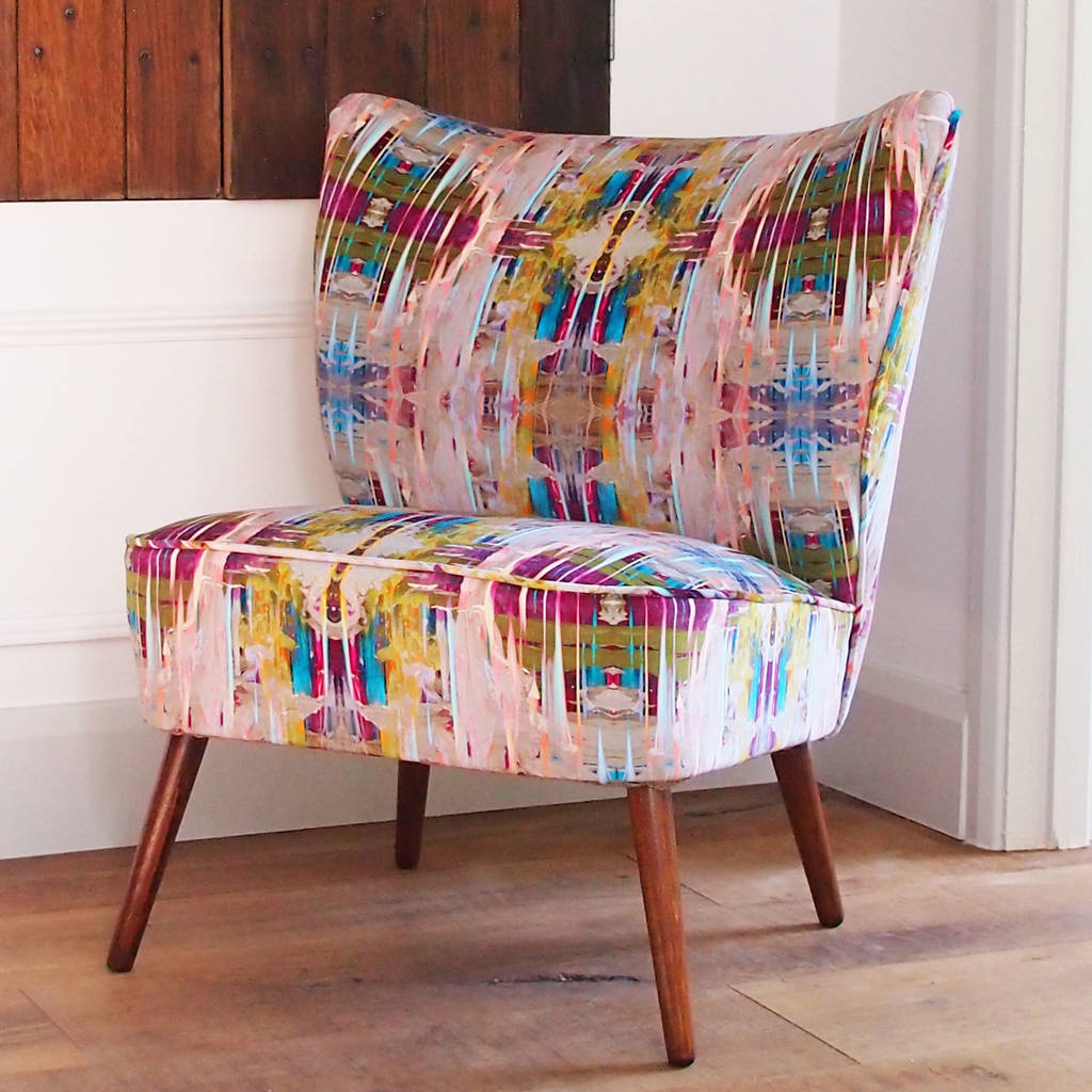 Vintage 1950s Bartolomew Chair In Chance Velvet