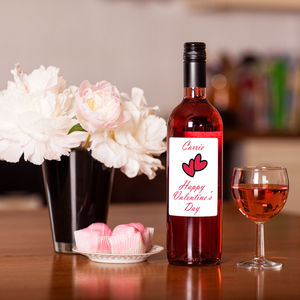 Personalised Valentine's Day Rose Wine - wines, beers & spirits