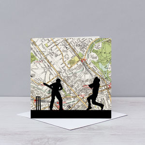 Cricket Card With Lords Map