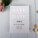 Modern Traditional Save The Date Card