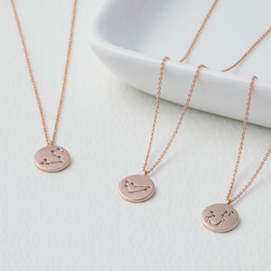 Rose Gold Constellations Star Sign Necklace - wedding jewellery