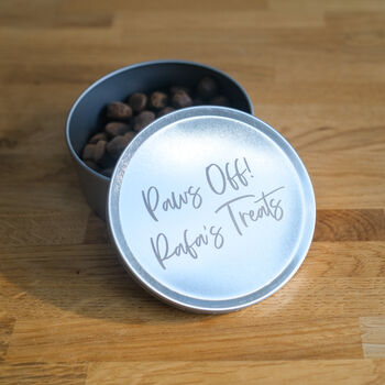 Personalised Pet Treat Tin