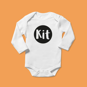 Super Cool Personalised Bubble Design Babygrow