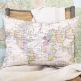 Map Of The World Personalised Cushion - home