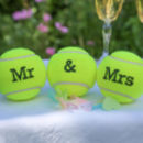 Customised Wedding Themed Tennis Balls