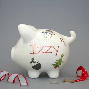 Personalised Christmas Piggy Banks