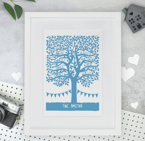 Personalised Family Tree Papercut Or Print - gifts for mothers