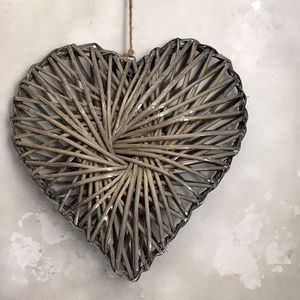 Washed Willow Heart - outdoor decorations