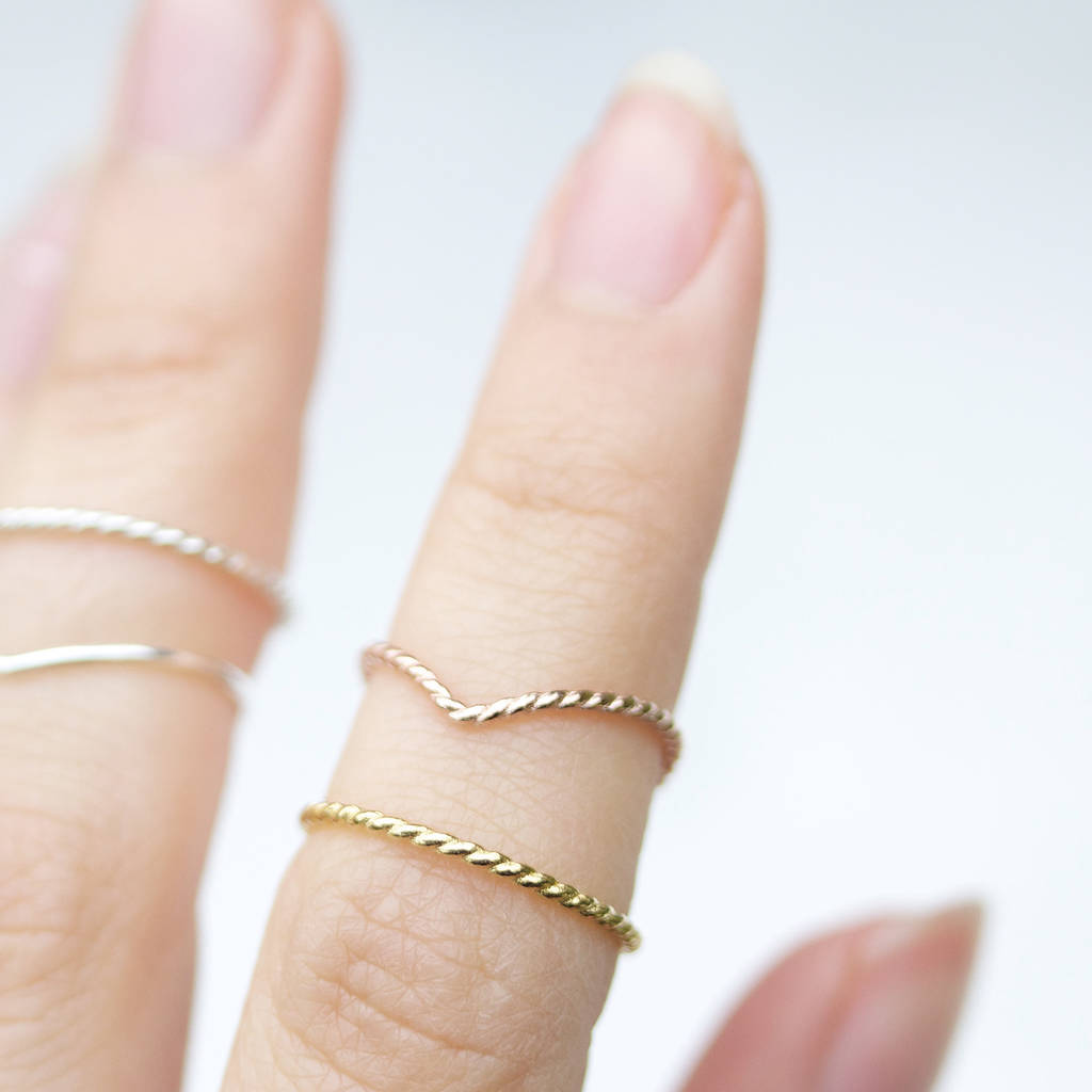 gold plain ring products yellow il bands fill hammered stacking band wedding simple fullxfull