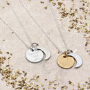Personalised Sterling Silver Moon And Back Necklace