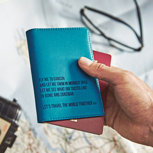 World Destinations Personalised Passport Holder - gifts for her