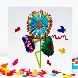 My Mum Butterfly Flower Card - birthday cards
