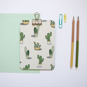 Mini Cactus Clipboard - desk accessories