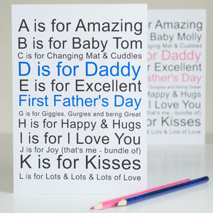 1st Fathers Day Card Personalised - first father's day cards