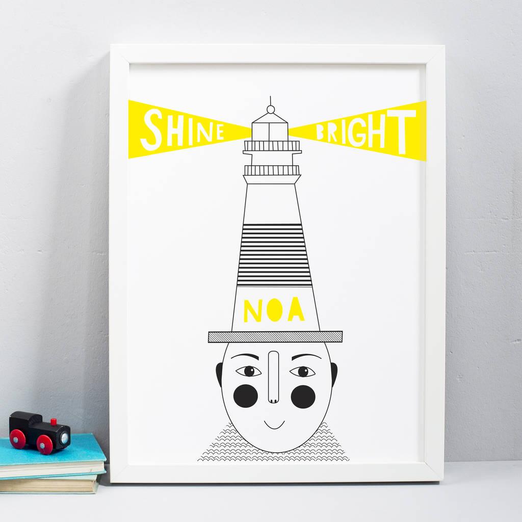 Shine Bright Personalised Print