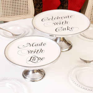 Celebrate With Cake Footed Cake Stand - kitchen