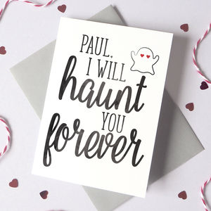 Personalised Haunt You Halloween Card