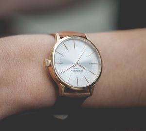 'Confluence' Rose Gold Watch