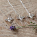 'The Bee's Knees' Silver Necklace