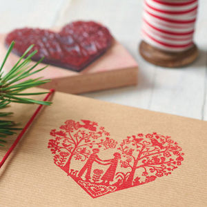 You And Me Heart Rubber Stamp - wrapping paper & gift boxes