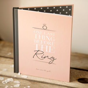 Hen Party Message And Memory Book In Blush - hen party styling