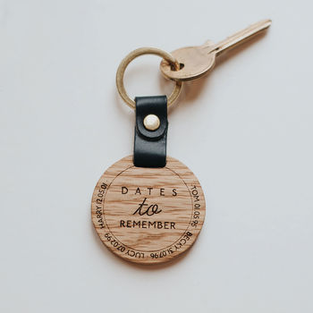 Personalised Dates To Remember Keyring