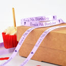 Birthday 10mm Personalised Printed Ribbon