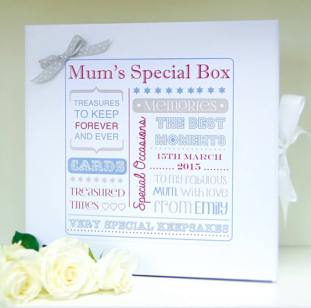 Mother's Day Keepsake Box