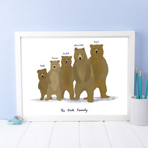 Personalised Bear Family Print - personalised gifts