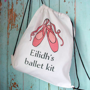 Personalised Ballet Drawstring Bag - bags, purses & wallets